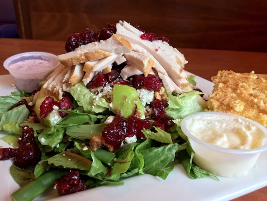 Berry Fresh Cafe: Harvest Cranberry Roasted Turkey Kale Salad