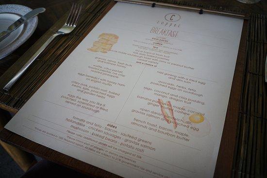 Breakfast Menu Picture Of Copper Kitchen Bar Ubud Tripadvisor