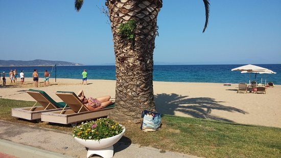 Agios Nikolaos, Griechenland: Beach, voleyball, palm trees