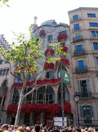 Casa batll diada de sant jordi 2016 picture of passeig - Casa gracia restaurante barcelona ...