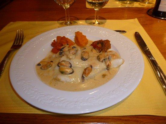 A l'Auberge: poisson délicieux