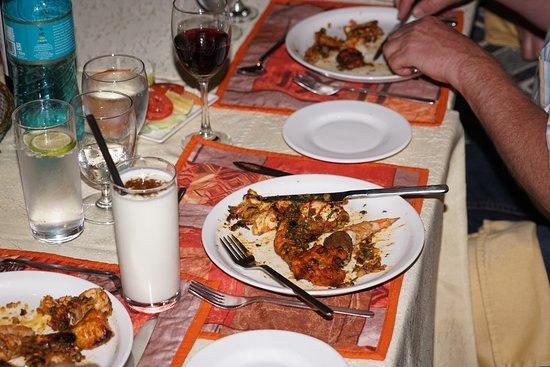 Haandi Restaurant : Väldigt stora räkor