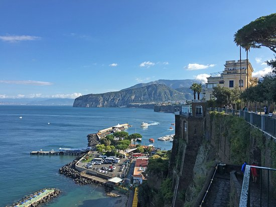 View of the high cliffs at Sorrento Italy Picture of Adolfo