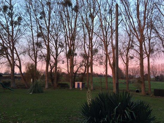Ver-sur-Mer, Frankrike: Un levé de soleil en Novembre