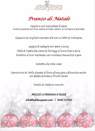 Hotel Restaurant Pizzeria Scarpone: Pranzo di Natale 2016