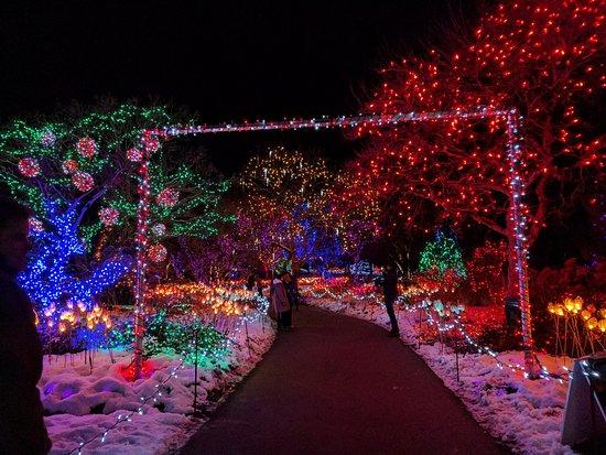Van Dusen Gardens Lights Garden Ftempo