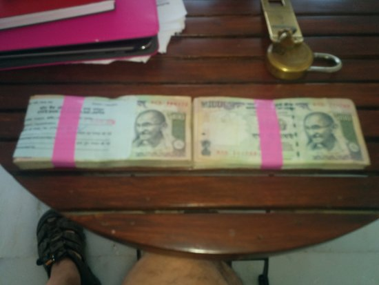 Sardargarh Heritage Hotel: Our Currency exchange
