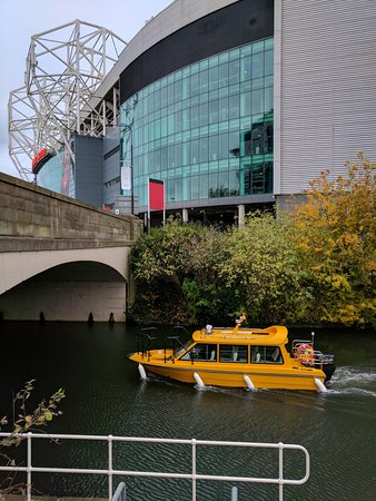 Manchester water taxis waxi to old trafford for manchester united museum tour