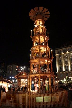 dresden christmas market christmas pyramid