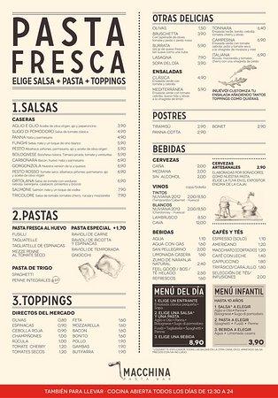 Cafe Via Espresso Menu
