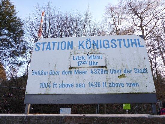 Königstuhl: Sign