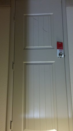 Comfort Inn Airport/International Center: closet door, more scratching marks