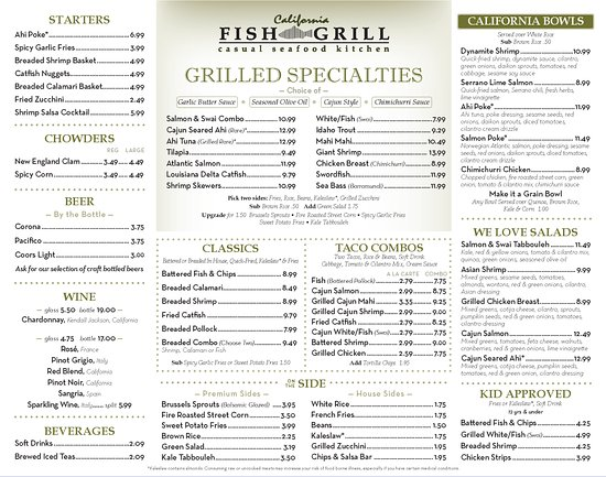 California fish grill gardena zdj cie battered fish for Fish grill menu
