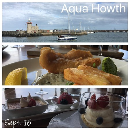 Aqua Restaurant Howth Menu