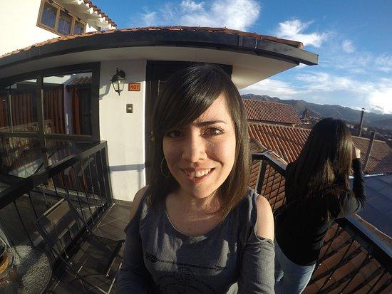 Tierra Viva Cusco Plaza: Terraza de la recepción