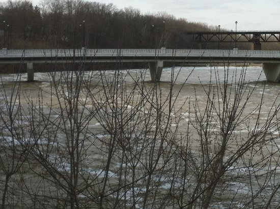 2 Rivers Restaurant: Spring and the Grand River is high
