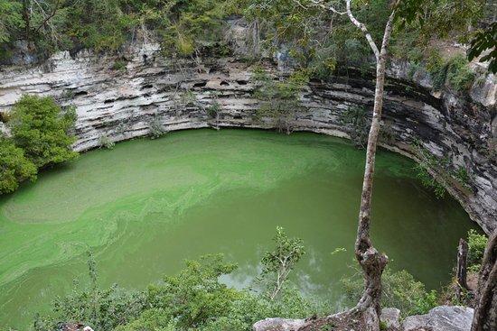 Sacred Cenote: Vista desde el mirador del Cenote Sagrado