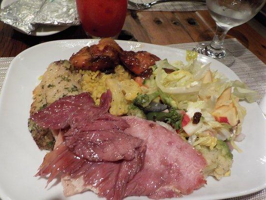touch n taste christmas themed buffet