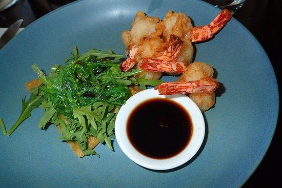 Wahroonga, Australia: tempura prawns