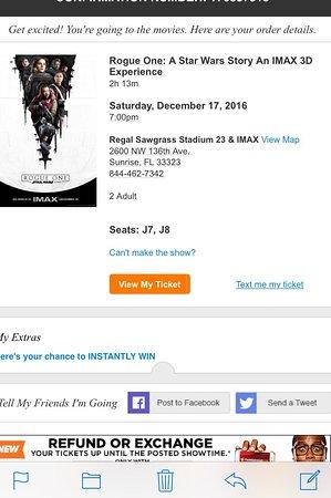 photo0 Picture of Regal Cinemas Sawgrass 23 & IMAX Sunrise