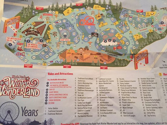 Map of Winterwonderland 2016 Picture of Winter Wonderland London