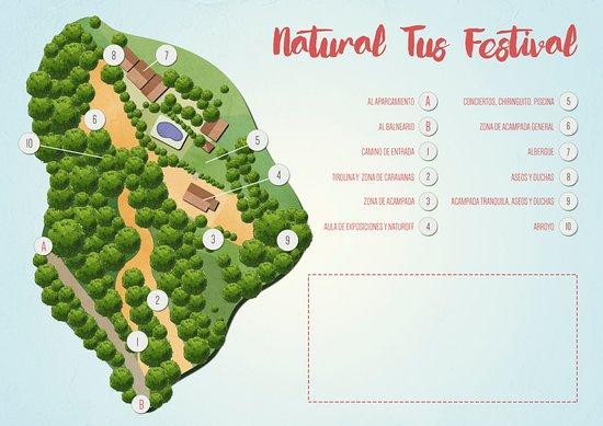 Yeste, Spagna: Plano esquema del albergue realizado con motivo de nuestro festival de musica