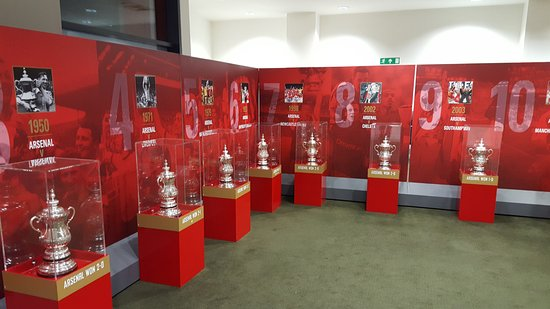 Arsenal Stadium Tours Museum The FA Trophy Room At Emirates