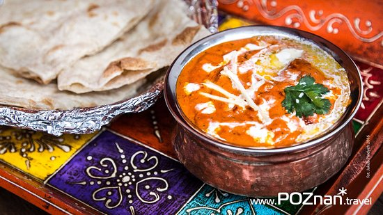 thali palace butter chicken with naan