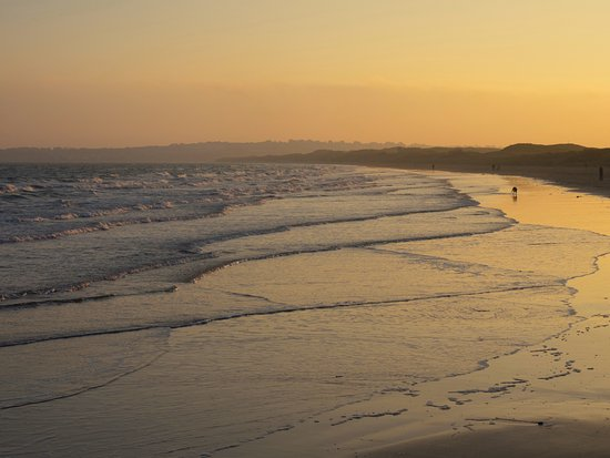 Donabate Beach at sunset.
