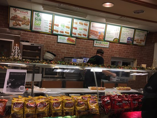 Subway (Lyons) - food prep line