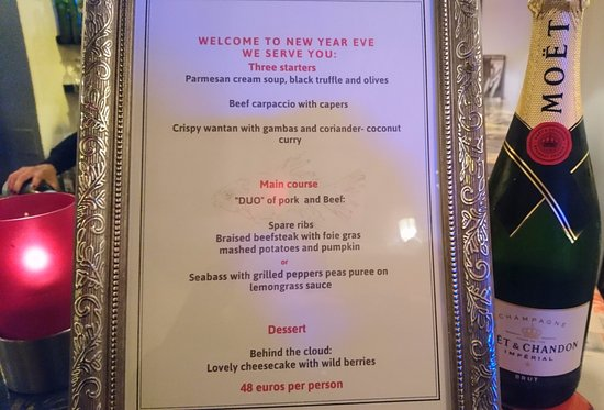 Tucana : New Year Eve Menu