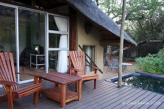 Louis Trichardt, South Africa: Porch with jacuzzi
