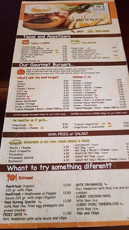The menu june 2016 picture of nieuw amsterdam sitges tripadvisor nieuw amsterdam the menu june 2016 publicscrutiny Image collections