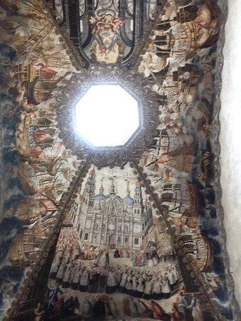 Atotonilco, México: Muestra de uno de las pinturas en una cúpula del Santuario.