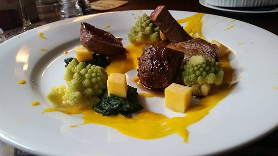 Cerne Abbas, UK: Venison main. The most tender & flavoursome I've ever tasted.