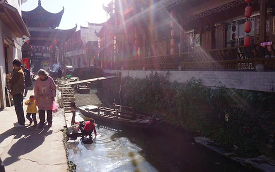 Wuyuan County, Kina: You are right in the middle of village life