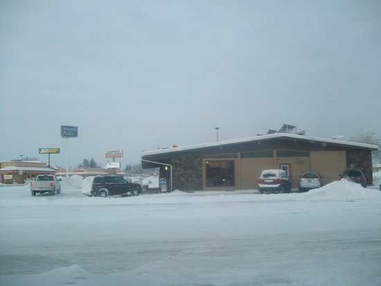 Snow Day at Homestead Family Restaurant, Blackfoot, ID