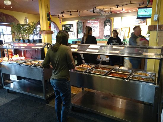 Kuna, ID: The two sided Mexican buffet.