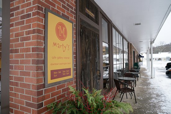 Washington Depot, Коннектикут: Outside seating