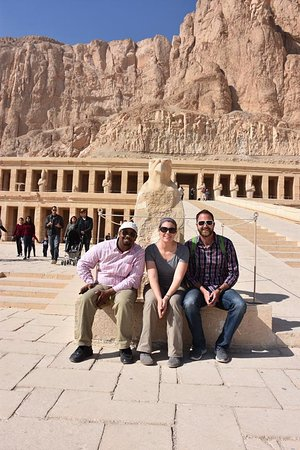Ramasside Tours: Hatshepsut's Temple with our guide, Aamer.