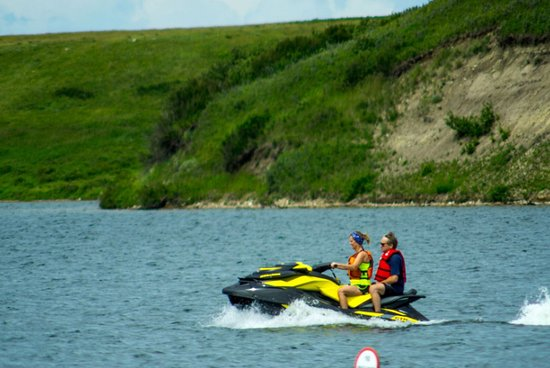 Elkwater Lake is large enough for motorized watercraft.