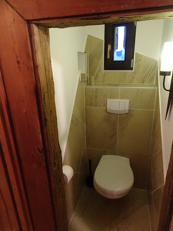 Loosdorf, Avusturya: Toilet in the medieval garderobe - a nice touch!