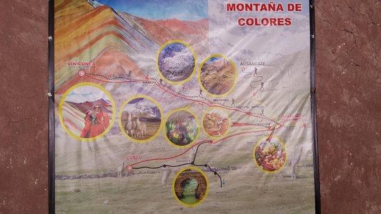 Route map de Rainbow Mountain Peru Cusco TripAdvisor