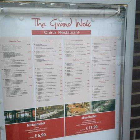 The Grand Wok: Speisekarte