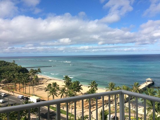 Park Shore Waikiki: View from our balcony. We were on the 12th floor if I remember correctly.