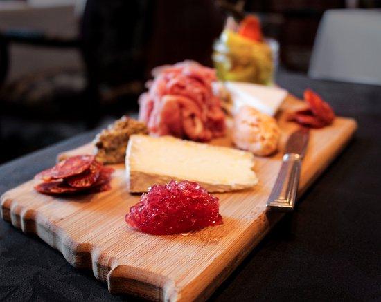Greeneville, TN: International cheese display at Brumley's