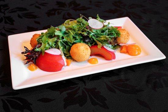Greeneville, TN: Pear salad at Brumley's