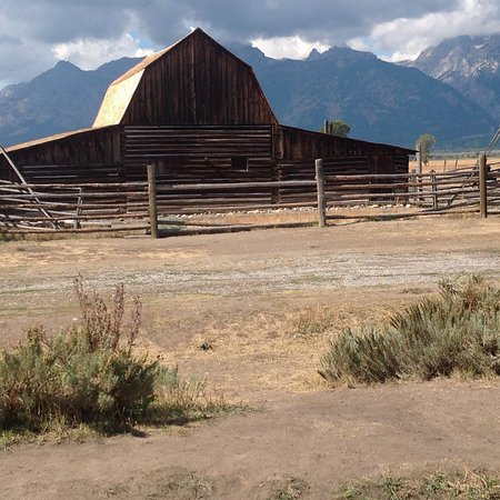 Moulton Ranch Cabins: Moulton Barn on Mormon Row near Moose WY