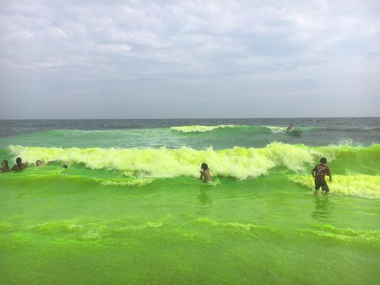 Allenhurst, NJ: Ocean Dye happens the Sunday of Labor Day Weekend every year.