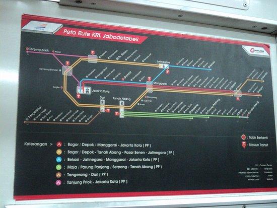 Peta Rute Krl Commuter Jabodetabek Di Kota Station Picture Of Kota Station Jakarta Tripadvisor